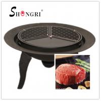 Wholesale cast iron fire bowl with bbq grill from china suppliers