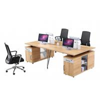 Buy cheap 4 Person Modular Workstation Desk Furniture With Metal Legs / Computer from wholesalers