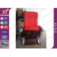 China University Furniture Floor Mounted Top Aluminum Base Conference Hall Chairs With Painted Back on sale