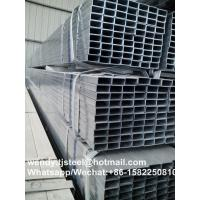 Best factory Thick wall galvanized square steel pipe / Hot dip galvanized.square steel pipe