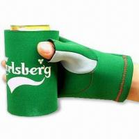 Wholesale Glove Can Cooler with Flat Lock or Blind Stitching, Made of 2.5 to 4.5mm SBR + Double Polyester from china suppliers