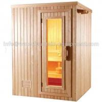 China 4 People Dry Steam Room Equipment Durable White Pine Wood With Sauna Accessories on sale