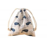 Wholesale Canvas Drawstring Cinch Bag , Recyclable String Gym Bag 16×14 CM from china suppliers