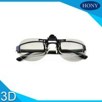 China Clip On Plastic Circular Polarized 3d Glasses For Theaters Flicker Free on sale