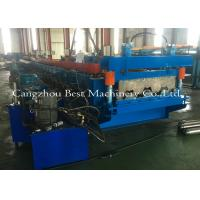 China 0.8-1.5mm Galvanized Metal Deck Sheet Roll Forming Machine For Roof Building on sale