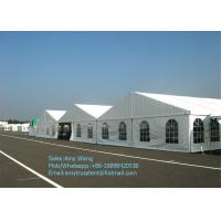 China 20x50m Structure Outdoor Event Tents With Strong Glass Wall For Big Exhibition / Fair / Show on sale