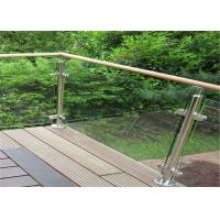 Wholesale Durable Glass Balustrade Stainless Steel Handrails , Tempered Glass Railing Systems from china suppliers