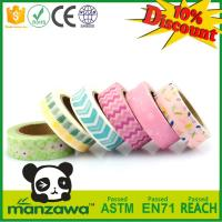 China Custom Printed Japanese Washi Material Masking Tape, Adhesive Decorative Paper Tape on sale
