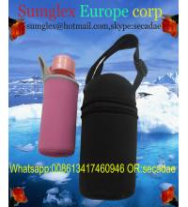 China neoprene water bottle holder with shoulder strap on sale