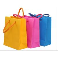 China Custom coated paper shopping bags, printed advertising bag, paper bag on sale