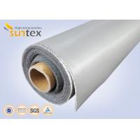 Wholesale 0.3 Mm Thick Blue And Black Color Silicone Fiberglass Cloth Safety Curtain Fabric from china suppliers