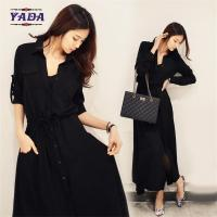 Wholesale New fashion korean design black shirt dresses ladies clothes dress 2017 for women from china suppliers