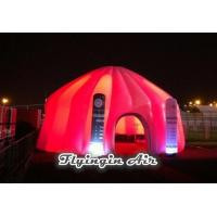 Red Inflatable Dome Tent with Lighting Inflatable Column for Exhibition and Events