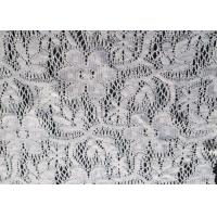 White Floral Polyester Lace Fabric for Wedding Dress , Lingerie CY-CT0001