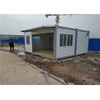 China Staff Dormitory Prefab Storage Container Homes With Aluminum Sliding Window on sale