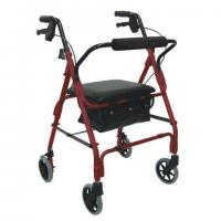 Wholesale Deluxe 4-wheel Aluminum Rollator from china suppliers