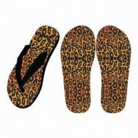 Buy cheap Beautiful New Design Women's Flip-Flops with Fabric Upper, Leopard Print Insole from wholesalers