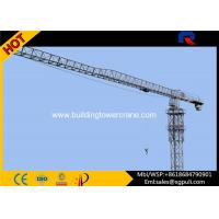 Flat Top Tower Crane Jib Length 56M , Telectric Tower Crane Schneider Electric Box