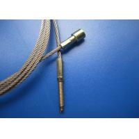 Steel Cable Assemblies : Brass thread studs steel cable assembly stamping fittings