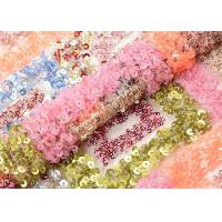 Buy cheap Beautiful Square Colorful Sequin Fabric Sequin Mesh Embroidery Fabric Custom from wholesalers