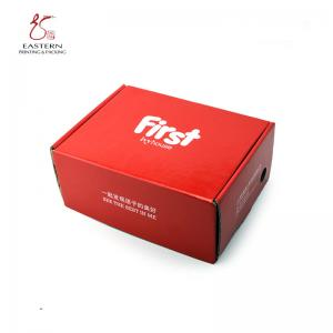 Buy cheap 300mm Length Corrugated Shoe Box , Custom Cardboard Shoe Boxes E Flute from wholesalers