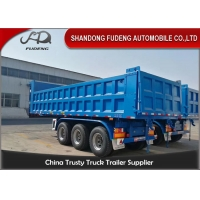 Wholesale 20 Cubic Meters 50 Ton 3 Axles Gravel Tractor Dump Trailer from china suppliers