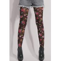 Wholesale Spring Floral Print Tights , Jacquard Printed Tights And Leggings from china suppliers
