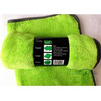Wholesale Green Color Microfiber Super Soft Super Absorbent 80% Polyester 20% Polyamide Car Cleaning Towels from china suppliers
