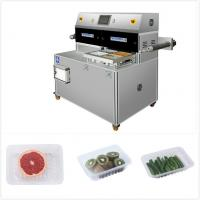 China PLC Industrial Vacuum Food Sealer MAP Tray Packaging Machine With Trays on sale