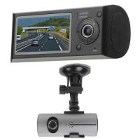 Wholesale VGA 640 x 480P Double Lens Car Video Recorder with GPS , Record Driving Track from china suppliers
