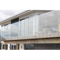Wholesale High Grade outdoor decking framless tempered glass railings from china suppliers