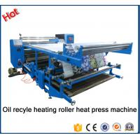 China New type Oil recyle heating roller press machine\Blanket fabric printing heat transfer machine for fabric factory26A on sale