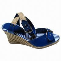 Wholesale Popular High-heel Jute Espadrille Sandal, Made of PU Upper, Rubber Outsole, 36 to 41# Sizes from china suppliers