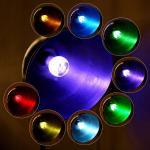 AC85~265V 3W E27 Flash RGB remote controlled LED Crystal Light Bulb