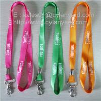 Wholesale Metal crimped nylon neck strap, nylon badge lanyard with metal sheet crimp, from china suppliers