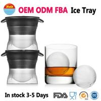 Wholesale Round Sphere Ice ball Cube Maker Silicone Tray Silicon Whiskey Mold For Drinks With Lid Great for Parties and all Cold Beverages from china suppliers
