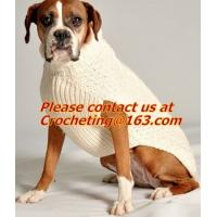 Wholesale pet clothing red dog sweater green pet,  jacquared Turtle neck Sweater Pet Winter Clothes from china suppliers