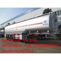 Buy cheap carbon steel 55,000L fuel trailer for sale, factory sale best price CLW 38.5tons gasoline tank trailer for sale from Wholesalers