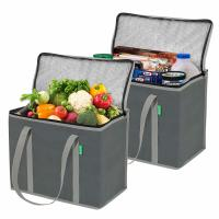 Insulated Reusable Grocery Bags,thermal bags food cooler Zipper, Foldable,
