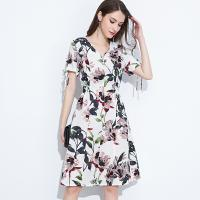 Wholesale 89D18008 Large Size Summer Fresh And Fashionable Cotton And linen Dress from china suppliers