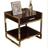 High End Hotel Bedside Tables 1 Drawer For 5 Star , Marble Top Nightstand