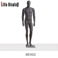 Wholesale dark gray relaxing standing straight arms male abstract mannequin BEN02 from china suppliers