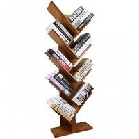 China Point Of Sale Bamboo Display Unit 9 Shelf Tree Shaped Bookshelf Organizer on sale