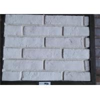 White Faux Exterior Brick Decoration Thickness 10-15mm Solid Surface