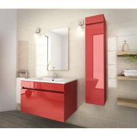 Wholesale 80 Inch Red Single Bathroom Vanity , Good Stability Bathroom Vanity With Sink from china suppliers