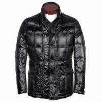 Wholesale Men's 90% Down Jackets with High Density Polyester/Nylon Twill Oil Finish and Lining in same fabric from china suppliers