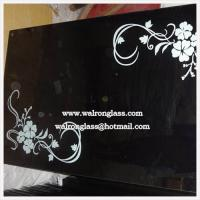 6mm 8mm 10mm Black Printed Tempered/Toughened Table Top Glass