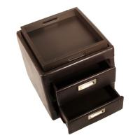 collapsible faux leather desk organizer