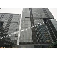 Double Glazed Layer Glass Facade Curtain Walling Multi Storey Steel Building For Business Mall