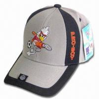 Wholesale Sports Cap with Back Velcro Closure, Logo Embroidery on Front and Peak from china suppliers